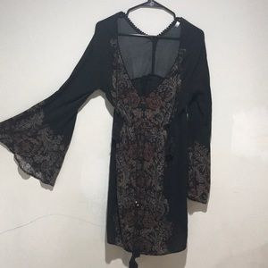 Boho Chic Bell-sleeved Dress.